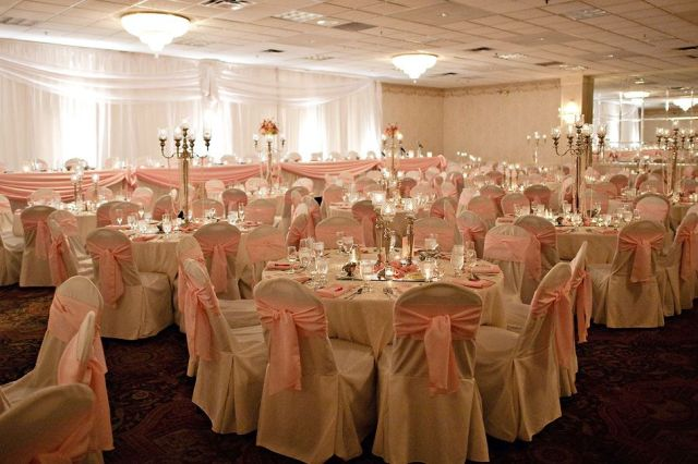 Pink Wedding Reception Table