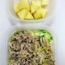 Salad with shredded pork + pineapple