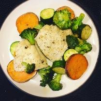 Chicken thigh sheet pan meal