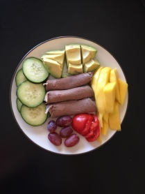 Meat + veggies + fruit